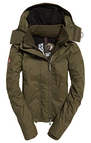 Olive Ex6 Donna black Hooded deep Zip Superdry Sportiva Windchea Giacca Verde Pop Arctic 7wSUq0Ov