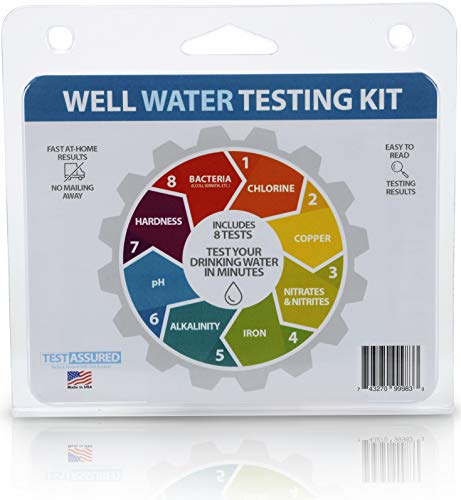 Well Water Testing Kit - Tests For Bacteria & 7 Other Tests In One Easy Testing Kit Made In USA