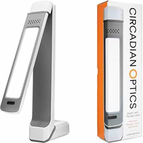 Circadian Optics Lumos 2.0 Light Therapy Lamp | Ultra Bright 10,000 Lux Full Spectrum LED Light (White)