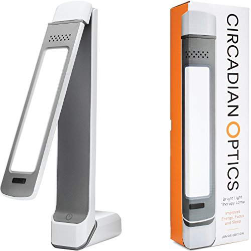 Circadian Optics Lumos 2.0 Light Therapy Lamp | Ultra Bright 10,000 Lux Full Spectrum LED Light (White)