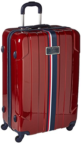Tommy Hilfiger Lochwood 28 Inch Spinner Luggage, Burgundy, One Size (Red Hilfiger Tommy Luggage)
