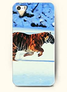 OOFIT phone case design with Tiger Running for Apple iPhone 4 4s