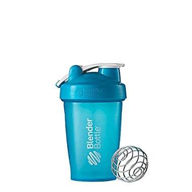 BlenderBottle Classic Loop Top Shaker Bottle, Aqua, 20 Ounce