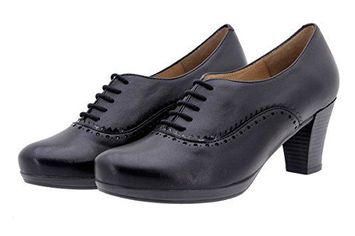 Becerronegro Chaussure Lacets Cuir Femme en Confortables 9309 PieSanto Amples à Confort FvqCwRnR
