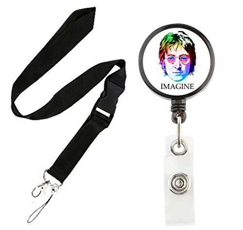 Translucent Retractable Badge Holder Reel Key Chain Reel with Lanyard