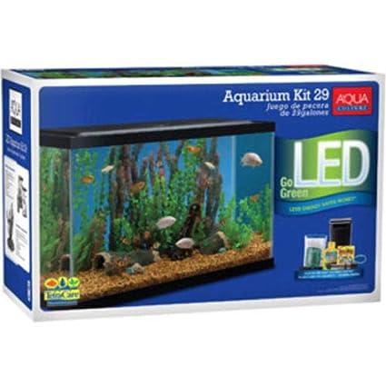 Amazon.com : Azaina_ade Home Decor New - Aqua Culture Aquarium Starter Kit With LED 29 Gallon Fish Tank : Pet Supplies