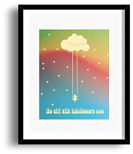Lucy in Sky with Diamonds - Beatles - Inspired Song Lyric Art Print - Matted and Framed Options