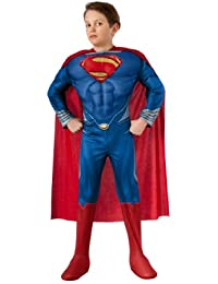 Man of Steel Child's Deluxe Lite Up Superman Costume, Small