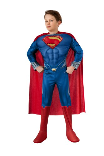 [Man of Steel Child's Deluxe Lite Up Superman Costume, Small] (Costumes Superman)