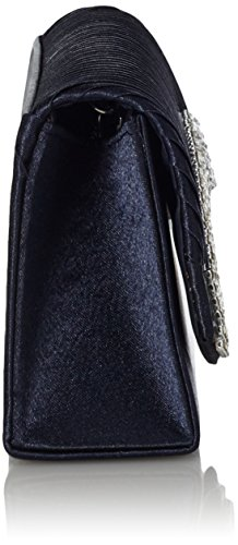 Pleated Black Clutch Flap Womens Crystal Bag Satin Evening Damara gBq4wU1