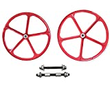 29''/700C Red Aluminum Mag Wheels - 66cc/80CC Gas Motorized Bicycle
