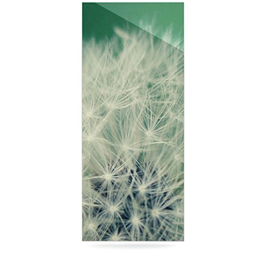 24 x 36 Kess InHouse Angie Turner Fuzzy Wishes Green White Luxe Rectangle Panel