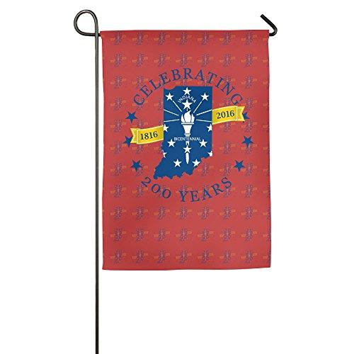 Celebrating Indiana 200 Years Bicentennial Garden Flag