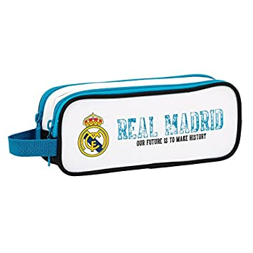 Estuche Real Madrid escolar. 2 Cremalleras.: Amazon.es ...