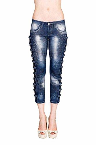 VIRGIN ONLY Women's Slim Fit Skinny Denim Capri Jeans (Animal Print, 3)