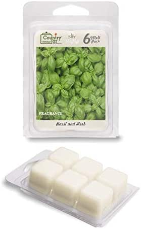 Country Jar Basil and HERB Soy Wax Melts/Tarts (2.75 oz. 6-Cube Pack) Pick 3 Sale! 3 or More (Mix or Match)
