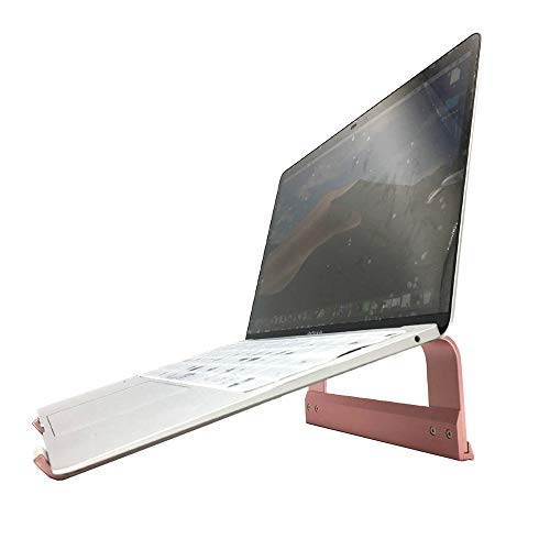 - SKYZONAL Aluminum Notebook Ventilated Stand Ergonomic Laptop Riser Portable Computer Stand for Laptop (Rose Gold)
