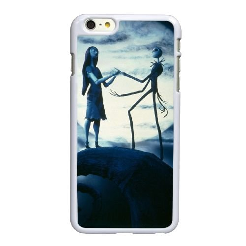 Y5E55 Jack Skellington M4N3IB coque iPhone 6 4.7 pouces Cas de couverture de téléphone portable coque blanche SD7BWD8KJ