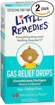 Little Tummy's Gas Relief Drops Natural Berry - .5 oz, Pack of 2 Medtech Products