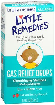 Little Tummy's Gas Relief Drops Natural Berry - .5 oz, Pack of 2