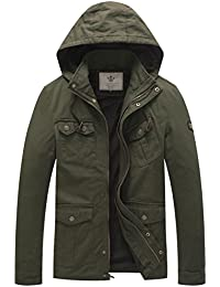 Men's Hooded Cotton Military Jackets
