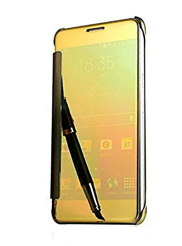 cheap for discount 1ee0c bd02b NewBreed Cover for J7 Pro Flip Cover Gold: Amazon.in: Electronics