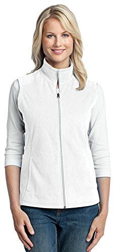 Port Authority Ladies Sleeveless - Port Authority Ladies Microfleece Vest, XL, White