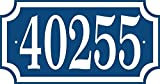 Comfort House Address Plaque - Custom Address Sign Displays Up To 5 House Numbers - Choose Your Color CRS116