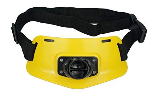 Eupheng Professional Fishermen Gimbal Pad Adjustable Fighting Fishing Waist Belt Rod Pole Holder (A2S, Yellow) ()