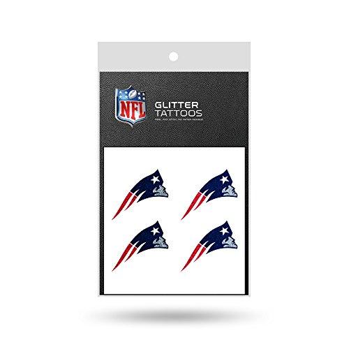 Rico NFL New England Patriots Glitter Tattoo, set of 4