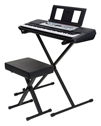 Yamaha YPT260 61-Key Portable Keyboard Bundle with Stand, Bench and Power Supply