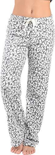 Active Club Fleece Lounge Plaid Pajama Pants For Women - Adjustable Waistband - Lounge Pants Fleece