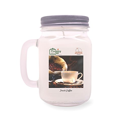 Country Jar Fresh Coffee Soy Candle, 14 oz. MC (Mason-Carry) Jar, White, 85-100Bh (Burn Hours) MARCH SALE - 3 for $33! Mix or Match Scents (Add 3 or More to Activate)