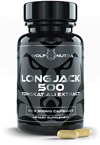 Longjack 500 | Tongkat Ali Root Extract 500mg | AKA Longjack, Eurycoma Longifolia, Malaysian Ginseng | 30 Day Supply