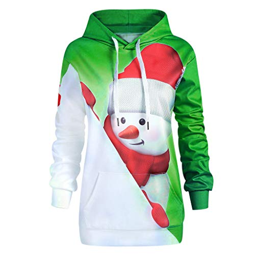 - Gyouanime Christmas Hoodies,Women Cartoon Snowman Xmas Sweater Coats Print Sweatshirt Pullover Hoodie Tops