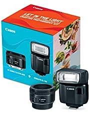 Canon EF 50mm f/1.8 STM + Speedlite EL-100