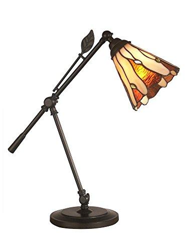 """Dale Tiffany TA11158 Tiffany Leaf Desk Lamp, 18.5"""" x 21"""" x 21"""", Dark Bronze"""