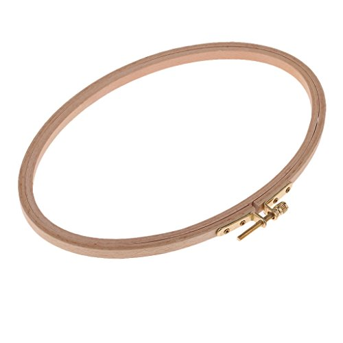 MonkeyJack Wood Oval Ring Frame Wooden Embroidery Hoop Oval Loop Adjustable Sewing Tools For Cross Stitch DIY Needlecraft Tapestry - 22x15cm