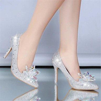 Nuevo producto fino señalaron los zapatos de tacón alto con los zapatos de boda zapatos de cristal de lentejuelas novia para los zapatos de las mujeres Red