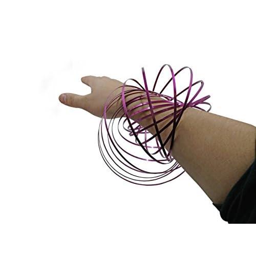 Rainbow 10 Magic Flow Ring Slinky 3D Kinetic Spring Infinity Arm Loop Toy Party