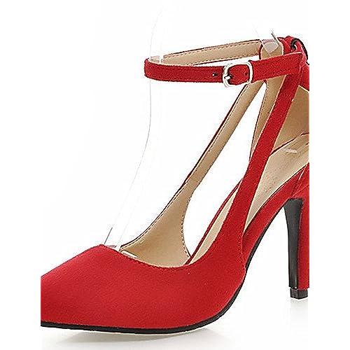 Ggx/femme Chaussures Stiletto Talon Bout Pointu Sangle de cheville Pompe à Plus de couleur disponibles