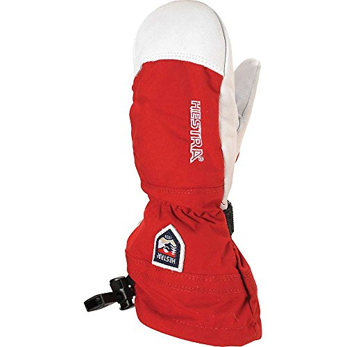 Hestra 30561 Army Leather Heli Ski Jr. Mitt, Red - 3