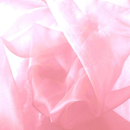 60 Inch wide Mirror Organza Fabric By the Roll 100 yards, Pink by LA Linen