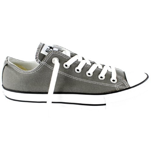 Converse Unisex Chuck Taylor All Star Low Top Charcoal Sneakers - 13 Men 15 Women ()