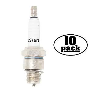 10-Pack Compatible Spark Plug for MONTESA Motorcycle COTA 247 Trails 21M 250cc - Compatible Champion L90C & NGK B6HS Spark Plugs