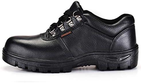 ウォーキングシューズ メンズ 本革 安全靴 つま先保護 鋼鉄先芯 ビジネスシューズ 黒 おしゃれ 靴 幅広 3e 滑り止め 防水 防油 革靴 紳士靴 ワークシューズ 大きいサイズ 男性 作業靴 倉庫 飲食店 23cm-28cm