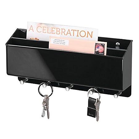 MDesign Wall Mounted Key Holder / Wall Letter Holder   5 Key Hooks   Key  Rack