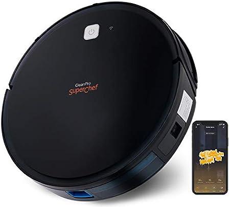 SuperChef Robot Aspirador SF425 CleanPro WiFi, App, Compatible con Alexa y Google Home, Aspira, Barre, Friega y Pasa la Mopa, Navegación Inteligente Gyroscópica: Amazon.es: Hogar
