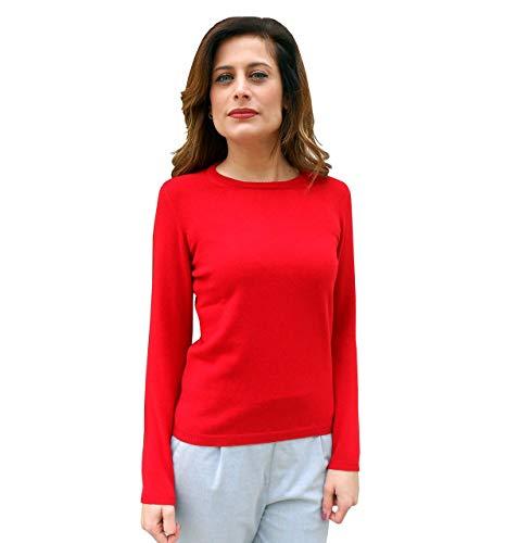 Maglia rossa di cashmere da donna Il Borgo Cashmere