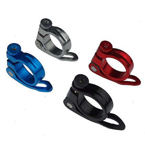 Kasteco 4 Pack 31.8MM Aluminium Alloy Cycling Bike Bicycle Quick Release Seatpost Clamp, 4 Colors by Kasteco (Image #1)